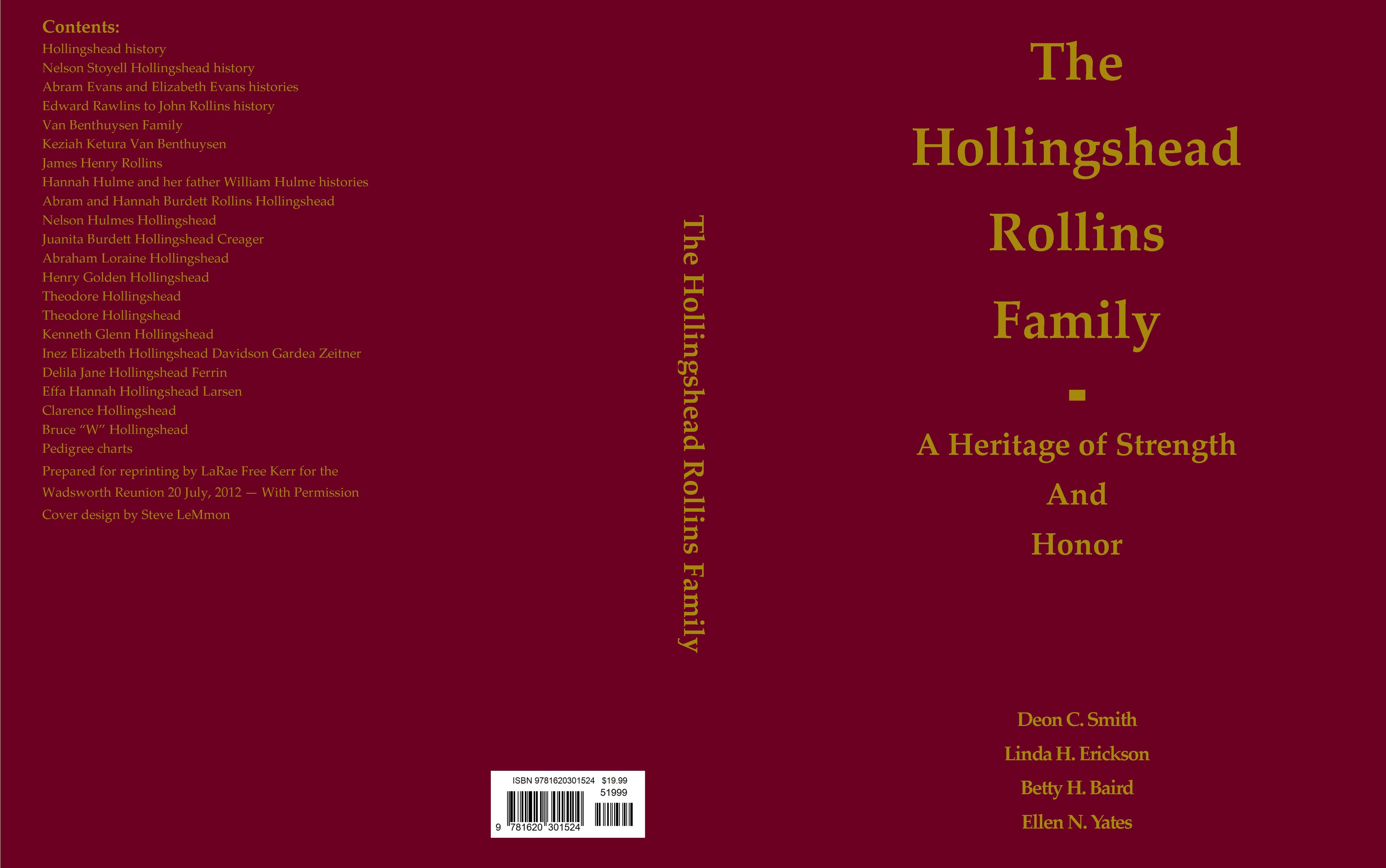 The Hollingshead Rollins Family cover image