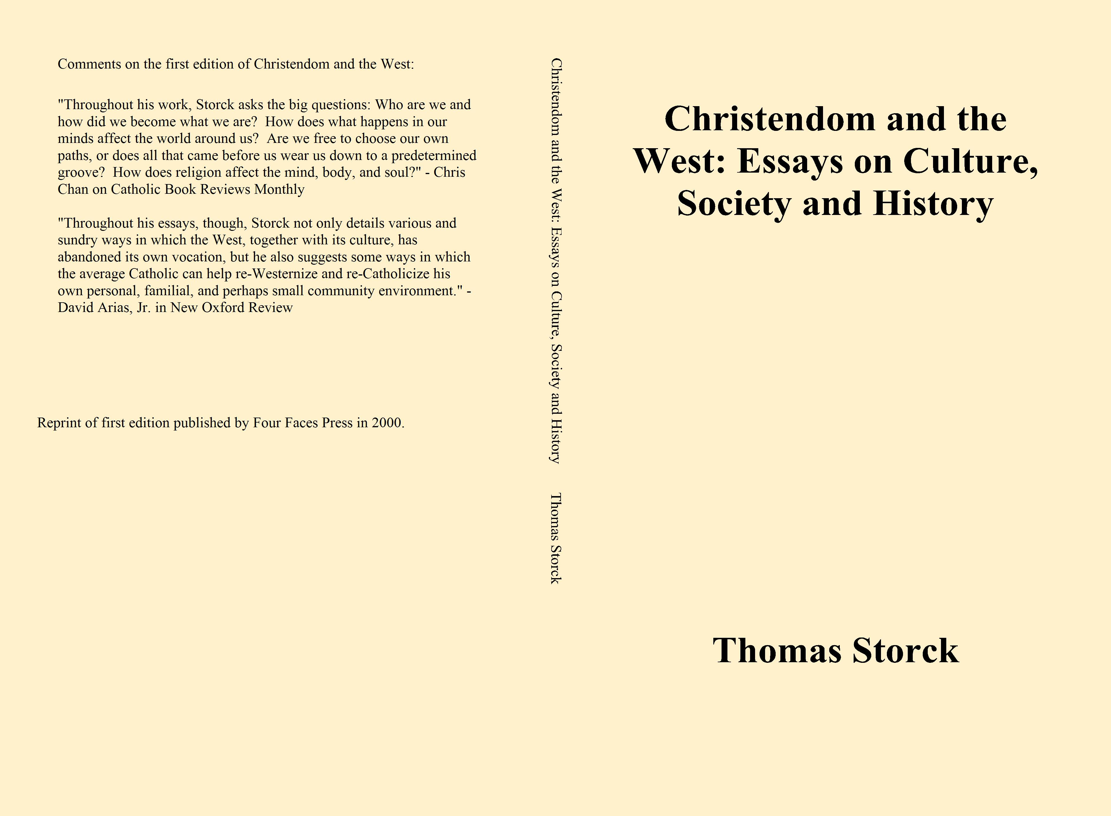 essays on culture doorway christendom and the west essays on culture society and history