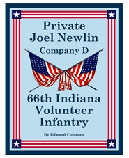 Private Joel Newlin, Company D, 66th Indiana Volunteer Infantry - BW cover image