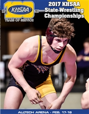 2017 KHSAA Wrestling State Championship Program (B&W) cover image