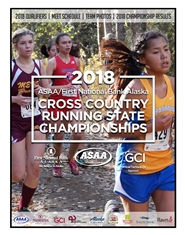 2018 ASAA/First National Bank Alaska Cross Country Running State Championships Program cover image