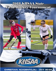 2018 KHSAA Field Hockey State Championship Program cover image