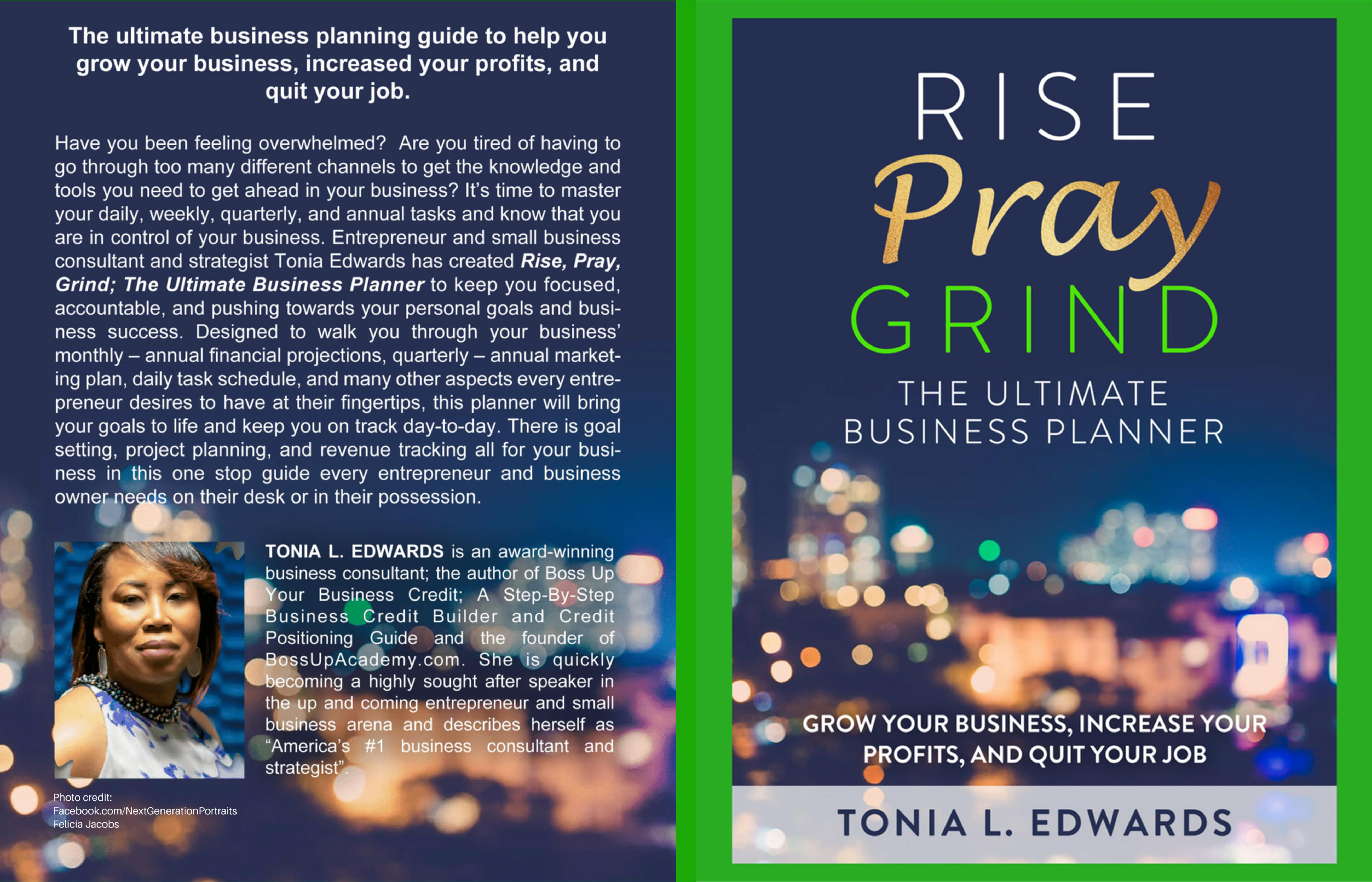 Rise, Pray, Grind; The Ultimate Business Planner cover image