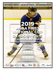 2019 ASAA First National Cup D2 Hockey State Championship Program cover image