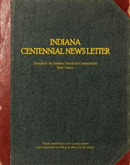 Indiana Centennial Newsletter cover image