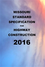 MISSOURI STANDARD SPECIFICATION FOR HIGHWAY CONSTRUCTION cover image