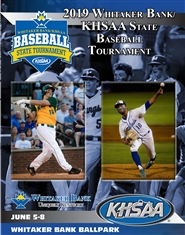 2019 Whitaker Bank/KHSAA Baseball State Tournament Program cover image