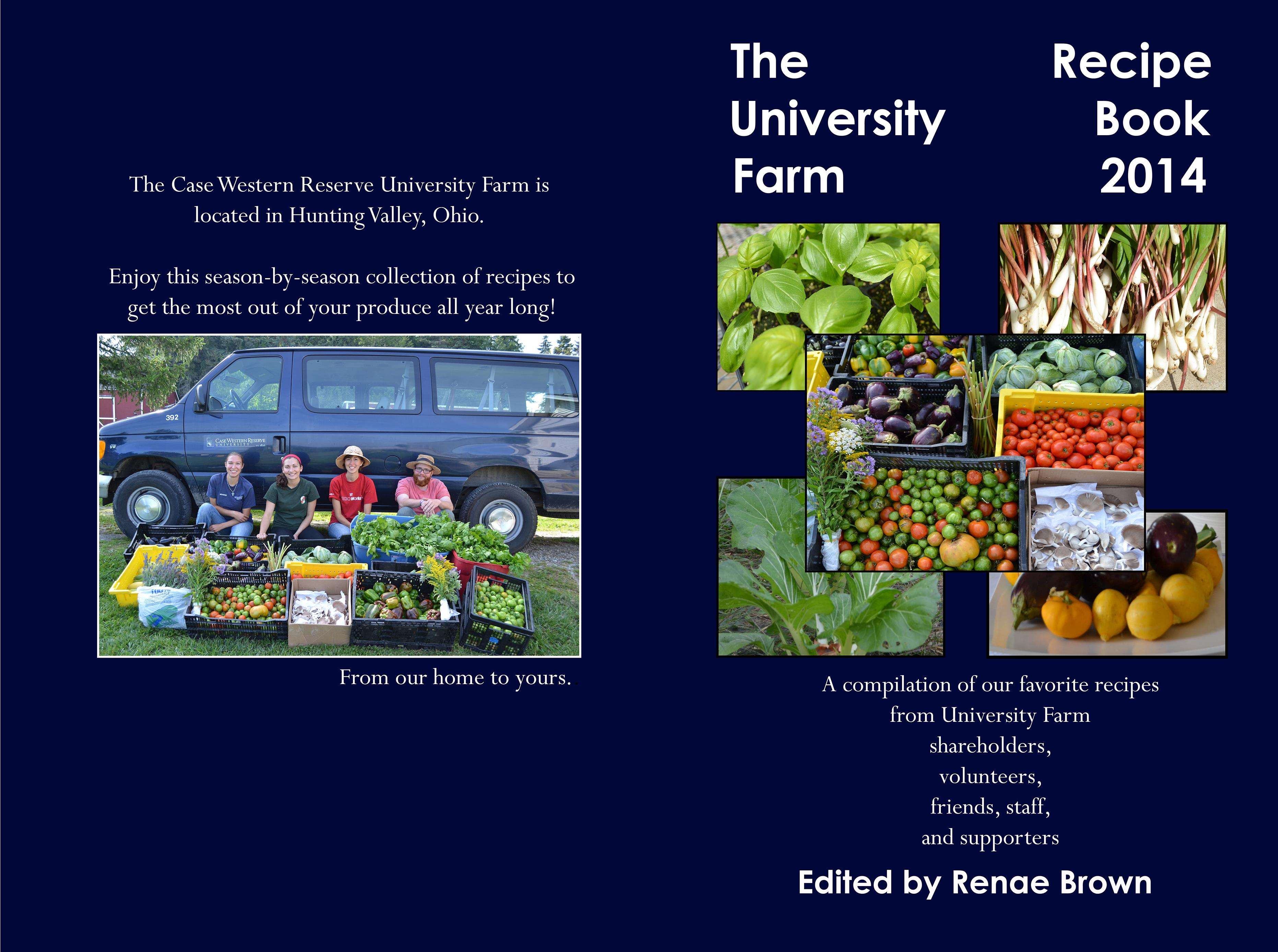 CWRU Farm Recipe Book 2014 cover image