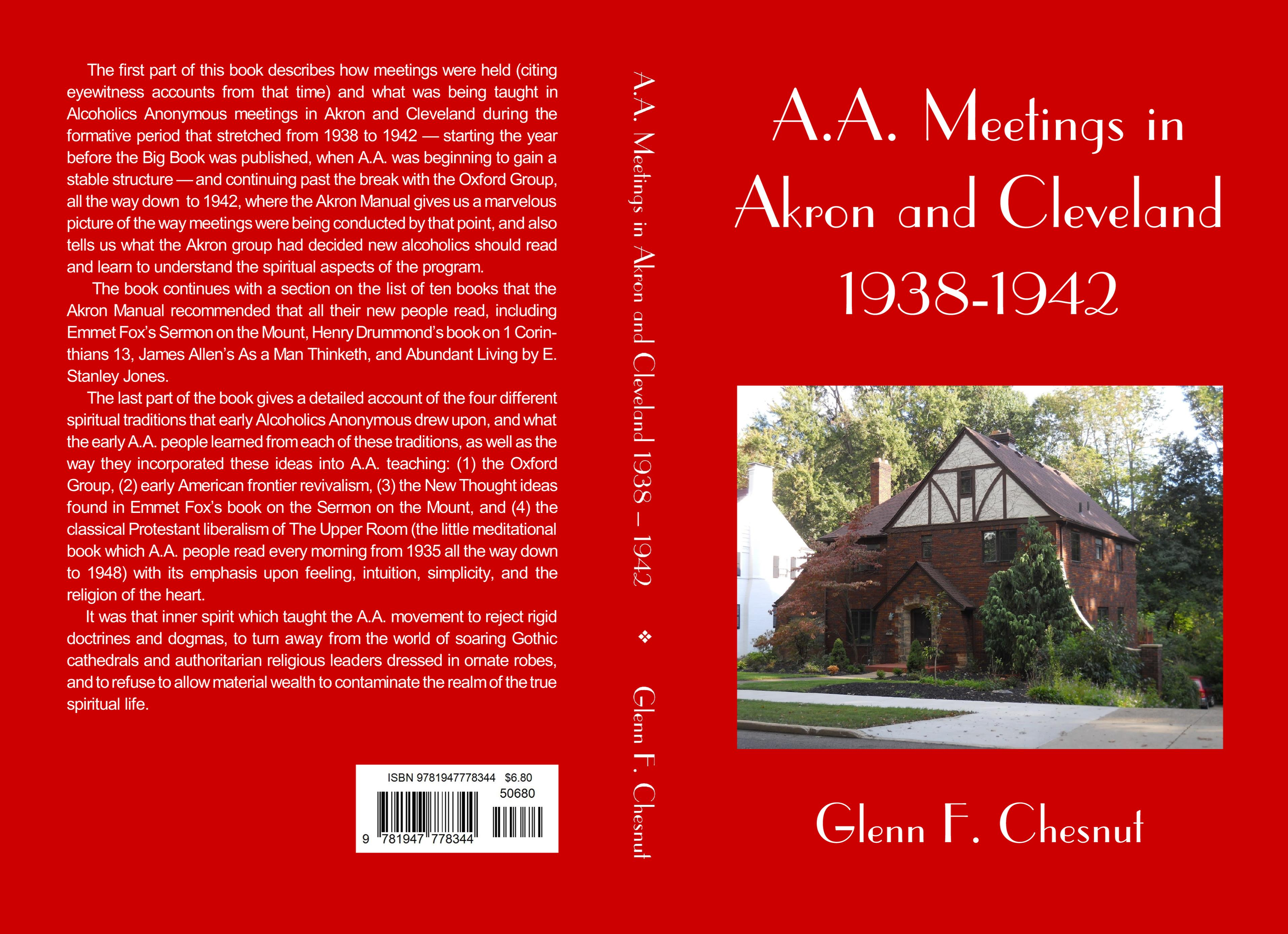 A.A. Meetings in Akron and Cleveland 1938-1942 cover image