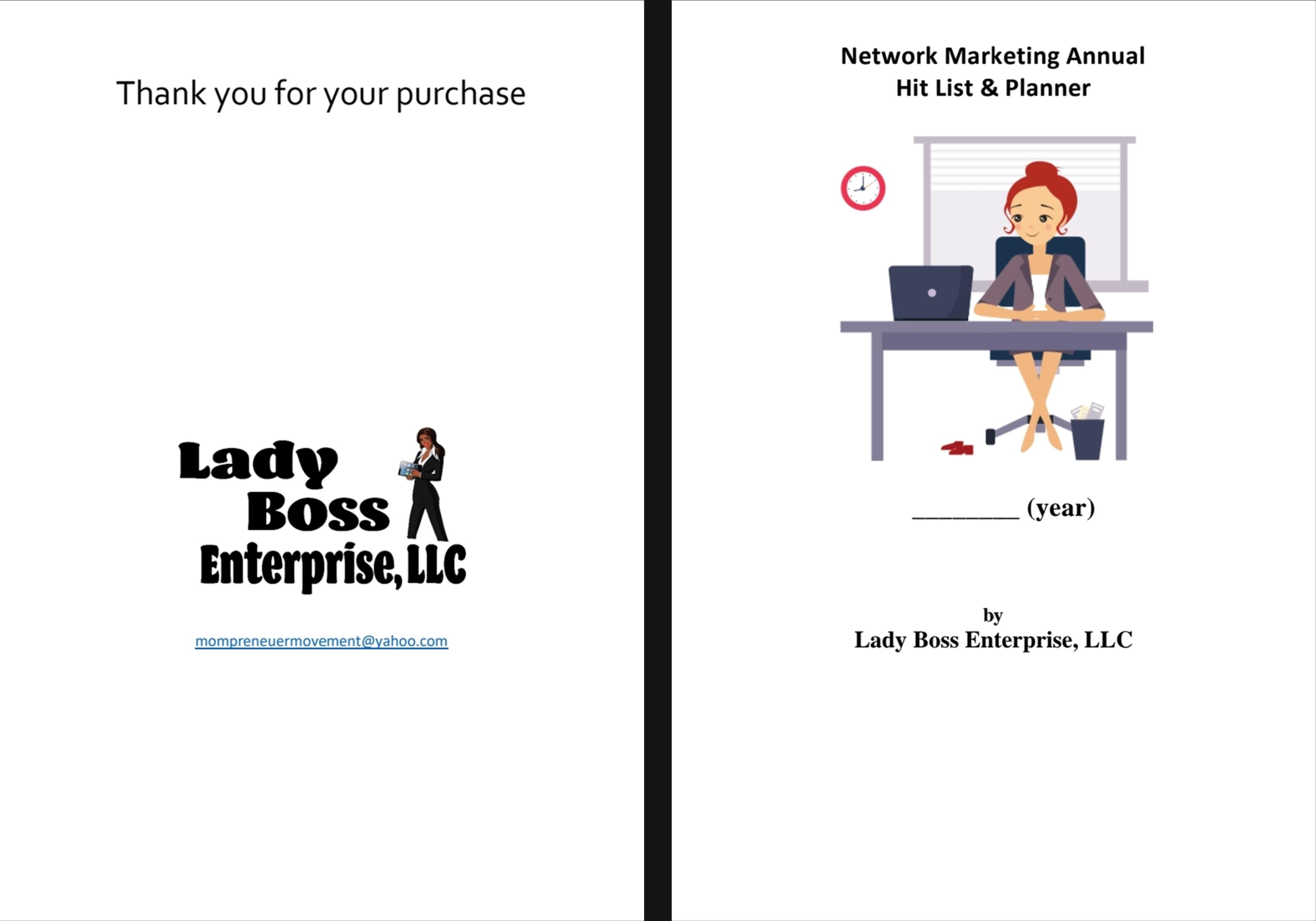 Network Marketing Annual Hit List & Planner cover image