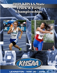 2019 KHSAA Track & Field State Meet Program cover image