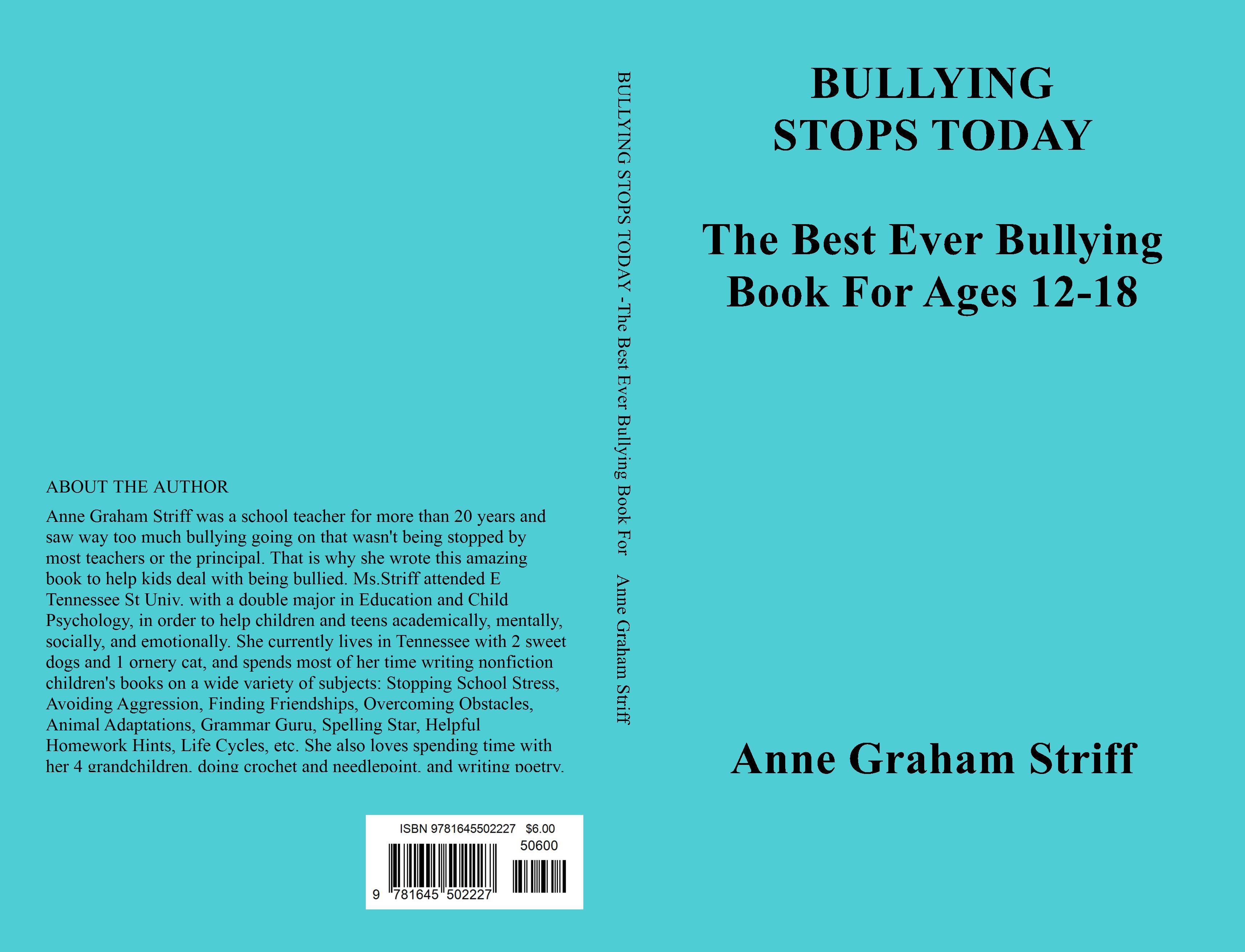 BULLYING STOPS TODAY -The Best Ever Bullying Book For Ages 12-18 cover image