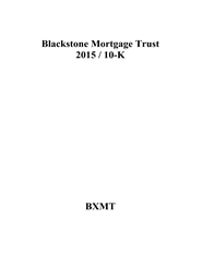 Blackstone Mortgage Trust 2015 / 10-K cover image