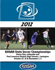 2012 KHSAA Soccer State Championship Program (B&W) cover image