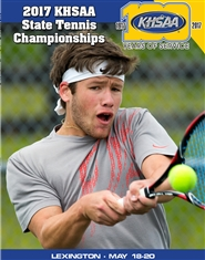 2017 KHSAA Tennis State Championship Program cover image