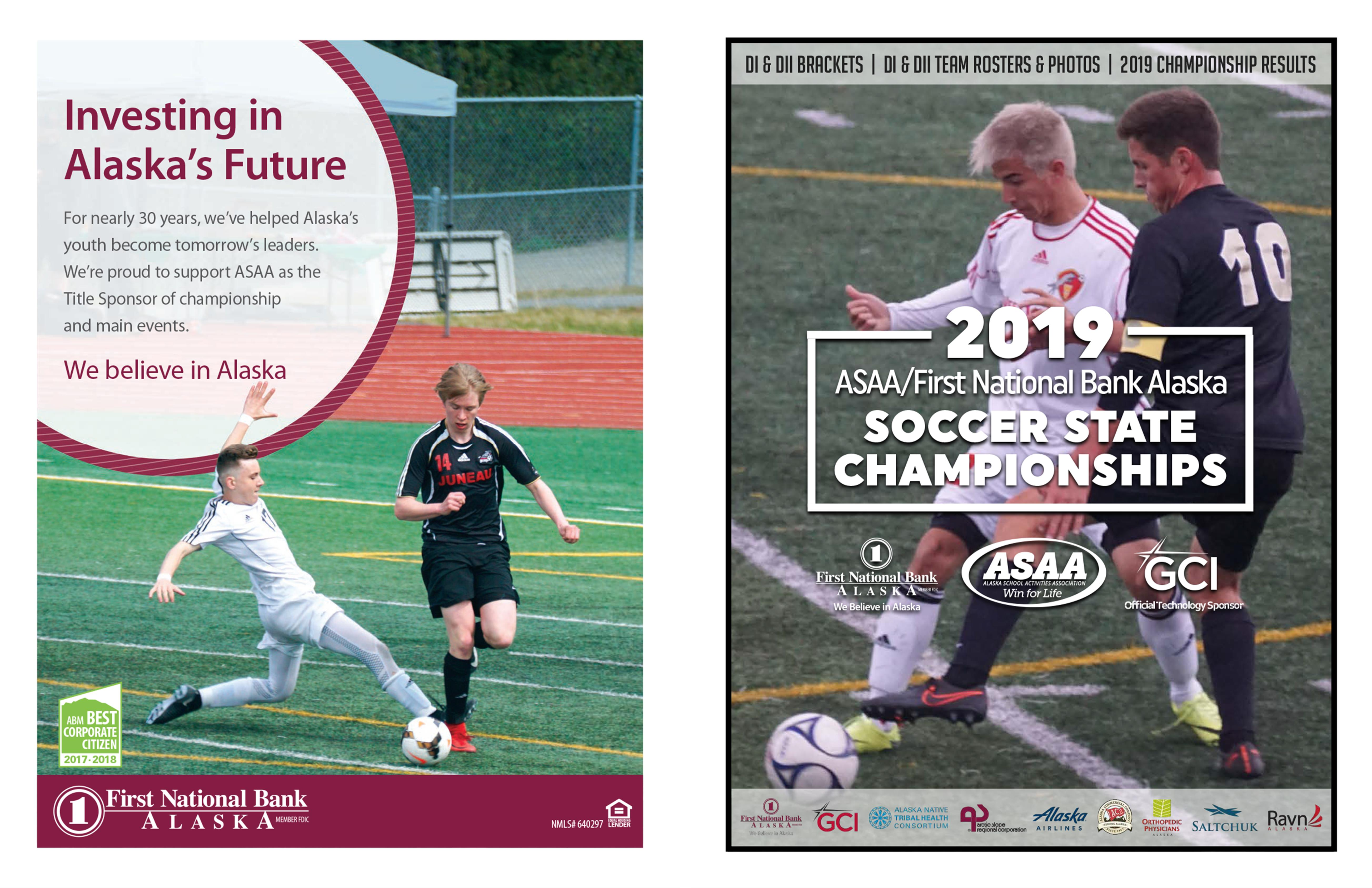 2019 ASAA/First National Bank Alaska Soccer State Championship Program cover image