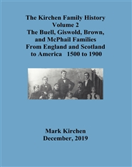Kirchen Family History Vol 2 Griswold, Buell, McPhail cover image