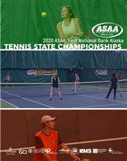 2020 ASAA/First National Bank Alaska Tennis State Championships Program cover image