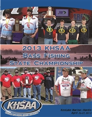2013 KHSAA Bass Fishing Championship Program cover image