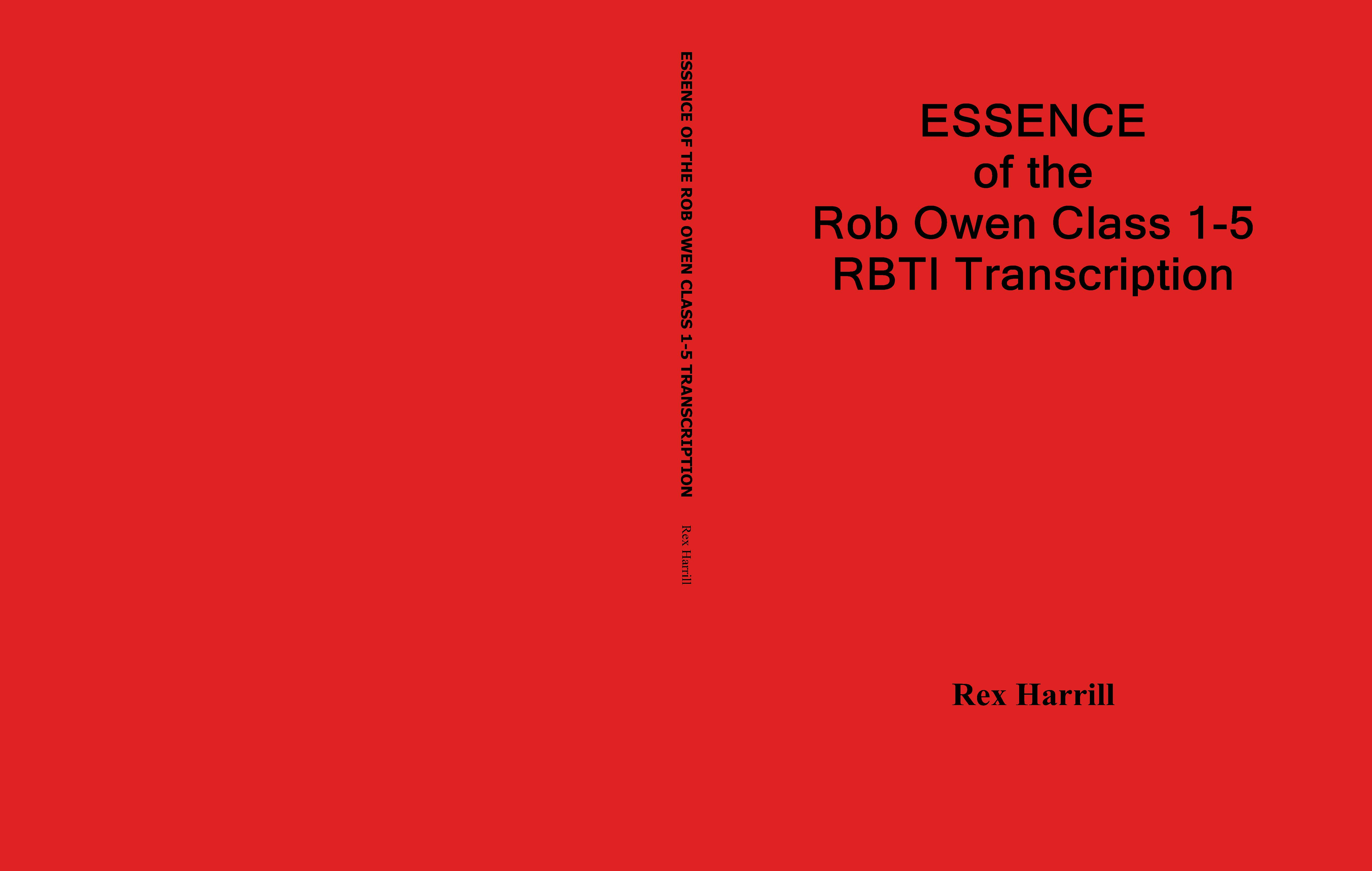 ESSENCE of the Rob Owen Class 1-5 RBTI Transcription cover image