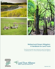 Wetland and Stream Mitigation: A Handbook for Land Trusts cover image