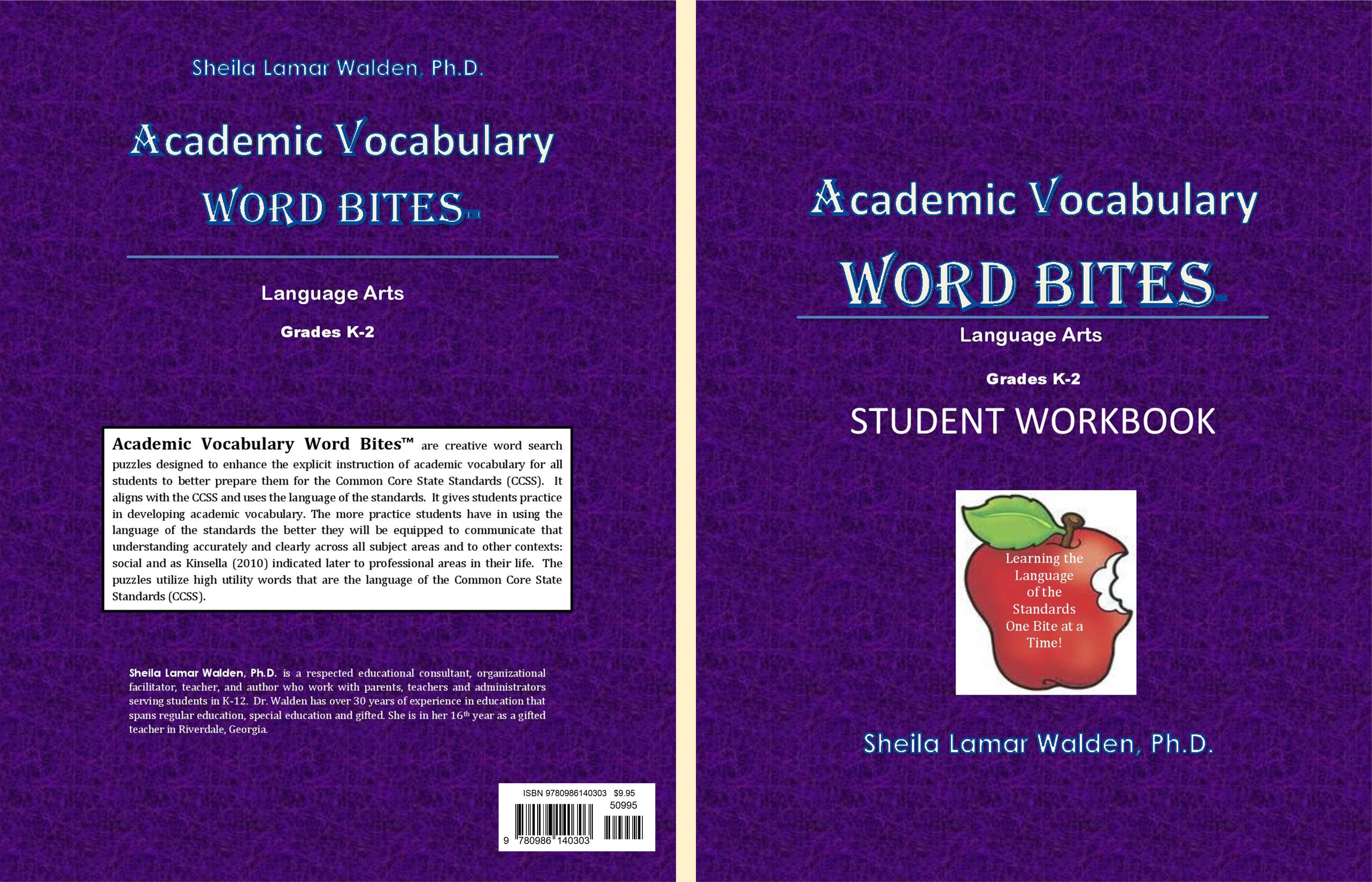 Academic Vocabulary Word Bites (K-2) Student Workbook cover image