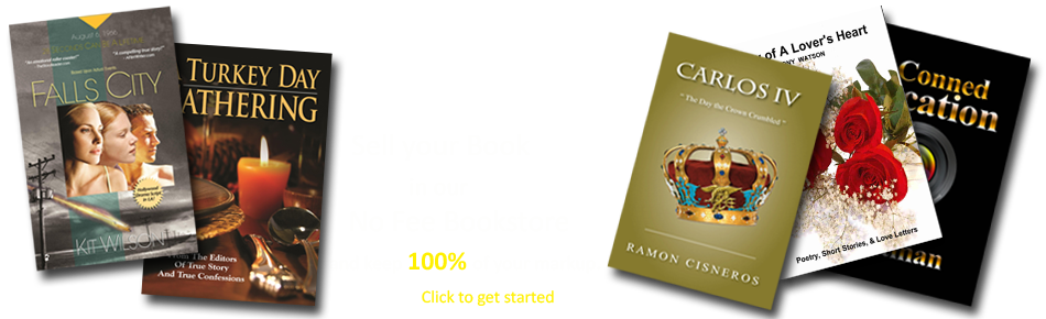 Sell your book in our no-fee bookstore banner image